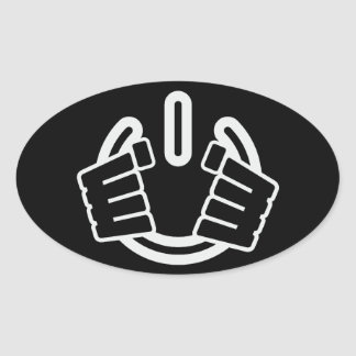 Power Hands, Seize Power! Oval Sticker