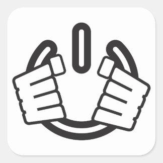 Power Hands, Seize Power! Square Sticker