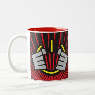 Power Hands, Seize Power! Two-Tone Coffee Mug