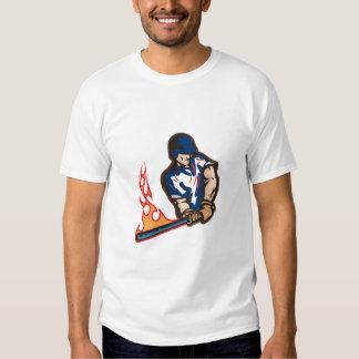 Power Hitter Baseeball Player Design T Shirt