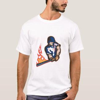 Power Hitter Baseeball Player Design T-Shirt