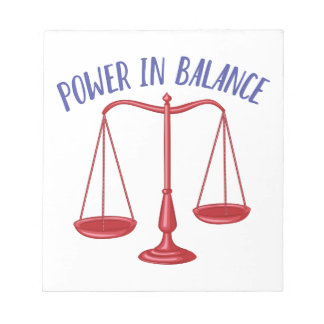 Power In Balance Notepad