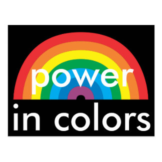 power in colors postcard