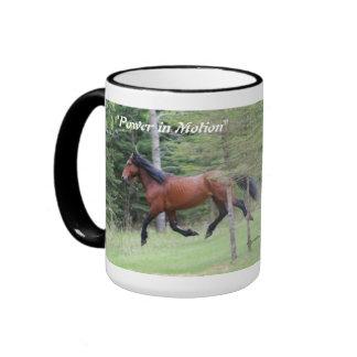 """Power in Motion""   Alberta Wild Horse Ringer Coffee Mug"