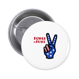 Power In Peace Buttons