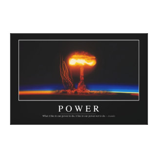Power: Inspirational Quote Canvas Print