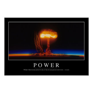 Power: Inspirational Quote Poster