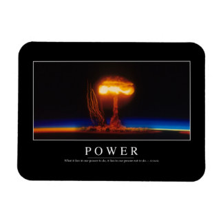 Power: Inspirational Quote Rectangular Photo Magnet