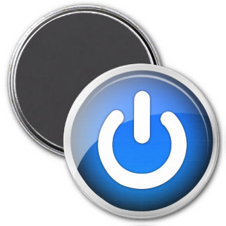 Power IO Switch Blue Icon Magnet