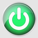 Power IO Switch Green Icon (pack of 6/20) Stickers