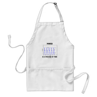 Power Is A Function Of Time (Physics) Adult Apron