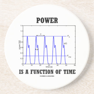 Power Is A Function Of Time (Physics) Drink Coaster