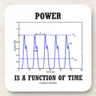 Power Is A Function Of Time (Physics) Coasters
