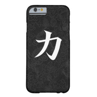 Power Japanese Kanji Calligraphy Black Dragon Barely There iPhone 6 Case