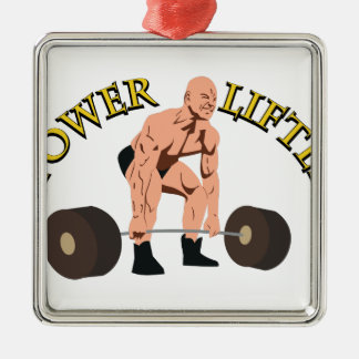 Power Lifter Metal Ornament