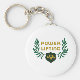 POWER LIFTING CREST KEYCHAIN