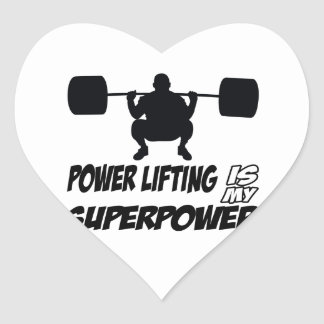 power lifting is my superpower heart sticker