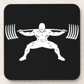 """POWER LIFTING"" Sumo Power Squat Illustration Beverage Coaster"