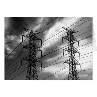 Power line dbl bw card