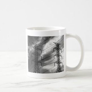 Power line dbl bw coffee mug