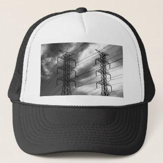 Power line dbl bw trucker hat