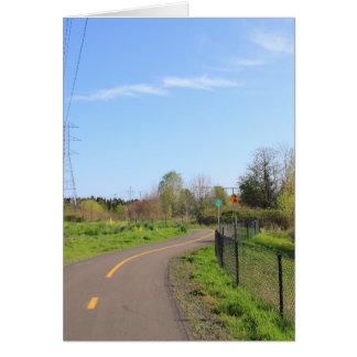 Power line park bike path, walk route card
