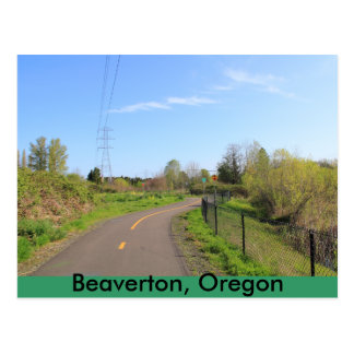 Power line park bike path, walk route post cards