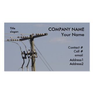 power line pole business card