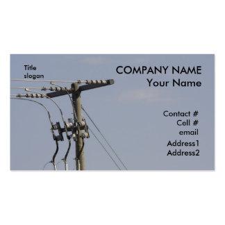 power line pole business card template