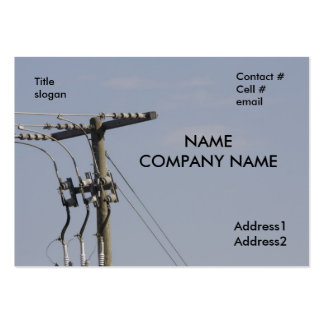 power line pole business card templates