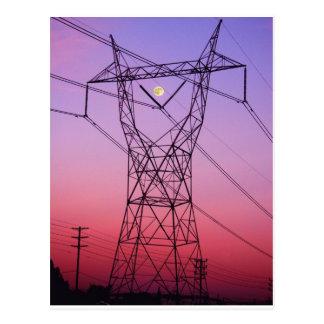 Power line single postcard