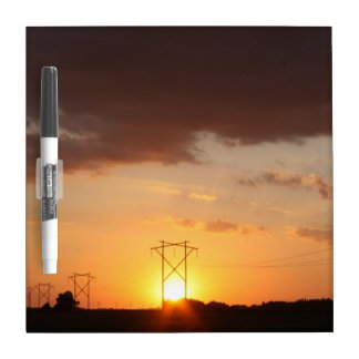Power Line Sunset Dry Eraser Board