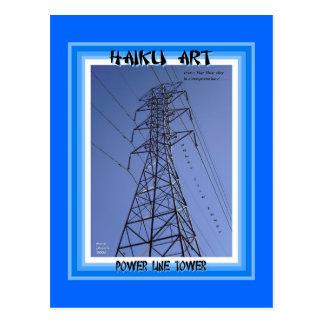Power Line Tower Haiku Art Collectible Postcard