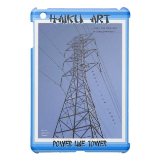 Power Line Tower Haiku Art iPAD Customizable Hard  iPad Mini Cases
