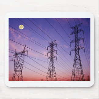 Power line triple mouse pad