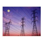 Power line triple postcard
