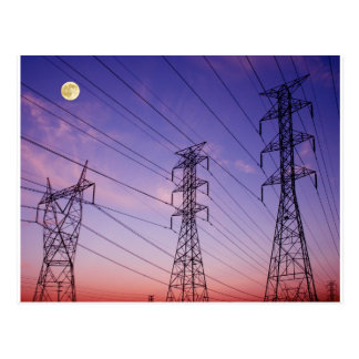 Power line triple post card