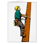 Power Lineman Electrician Electric Worker Greeting Card