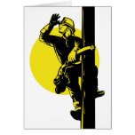 Power Lineman Electrician Electric Worker Cards