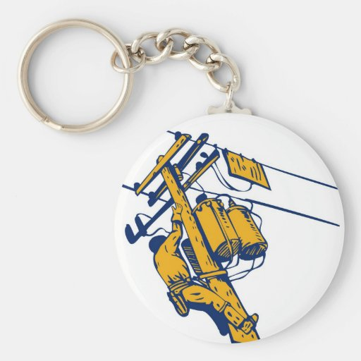 Power Lineman Electrician Electric Worker Key Chains