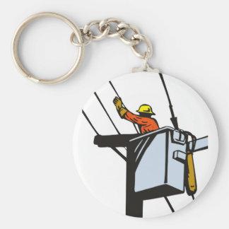 Power Lineman Electrician Electric Worker Keychain
