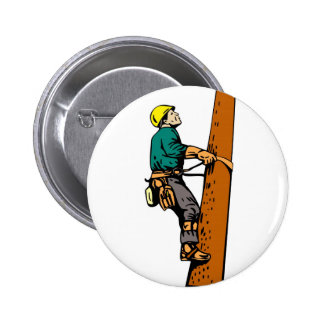 Power Lineman Electrician Electric Worker Pin