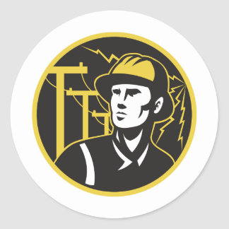 Power Lineman Electrician Electric Worker Stickers