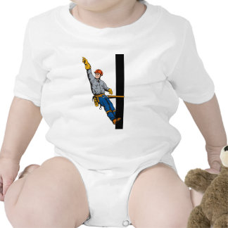 Power Lineman Electrician Electric Worker Baby Bodysuits