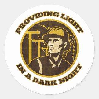 power lineman electrician repairman electricity stickers