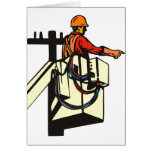 Power Lineman Electrician Worker Card