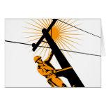 Power Lineman Electrician Worker Cards