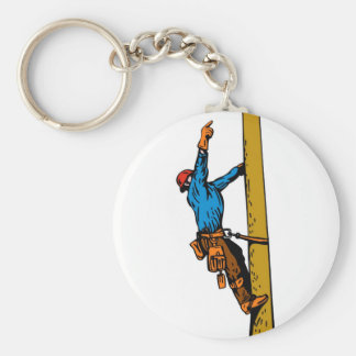 Power Lineman Electrician Worker Keychain