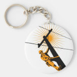 Power Lineman Electrician Worker Keychains