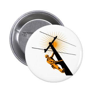 Power Lineman Electrician Worker Pin